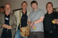 The Usual Suspects: myself, Mark Billingham, Ian Rankin and Joe Finder